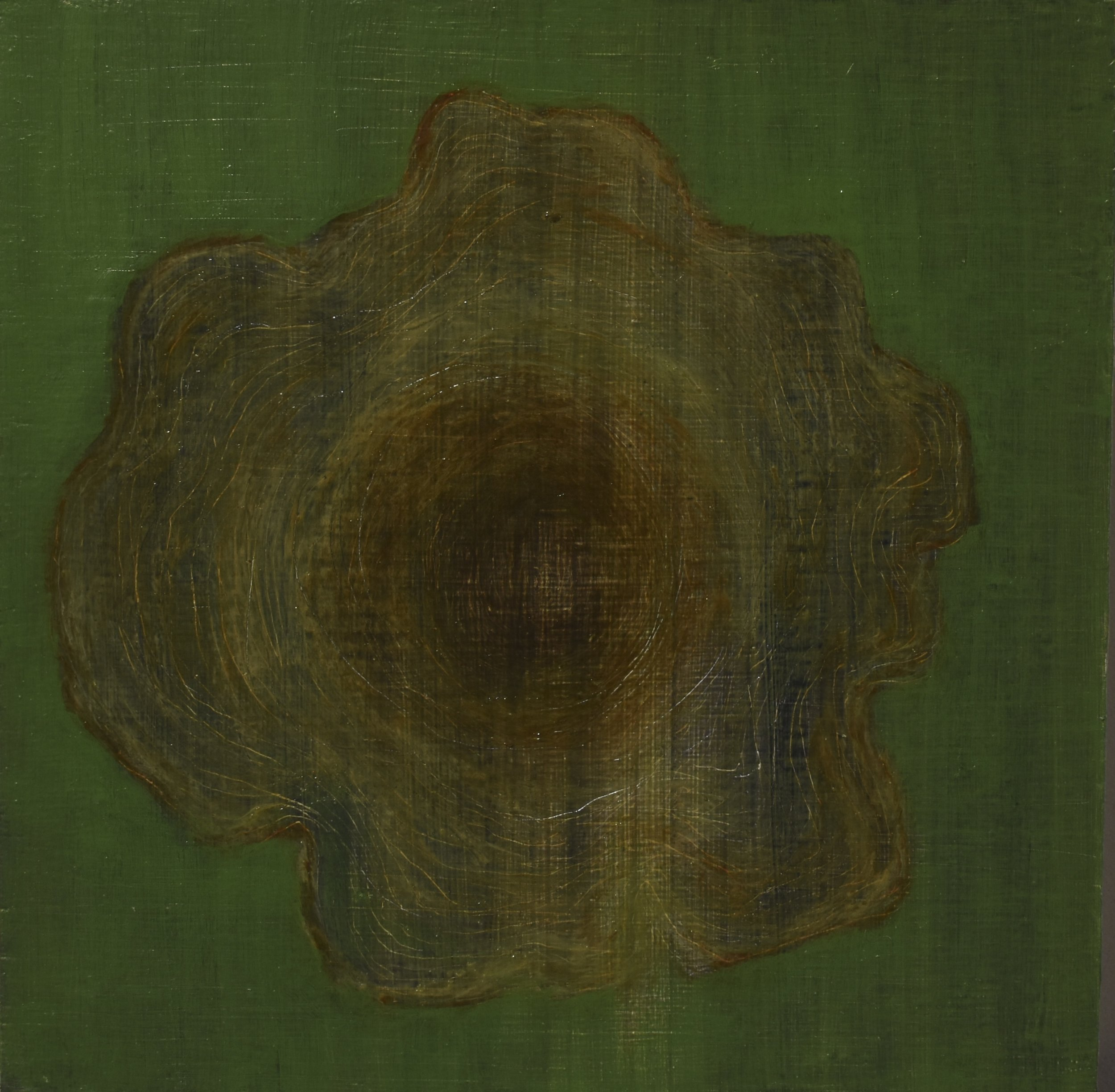 heartwood, 2017 oil on wood panel, 15 x 15 cm