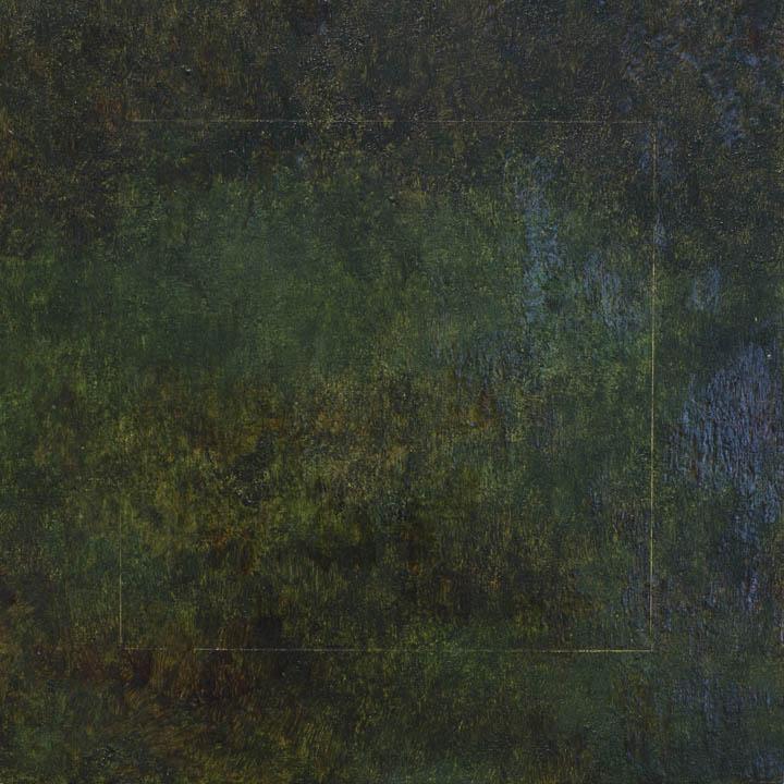 allot, 2017,oil on wood panel, 15.2 x 15.2 cm