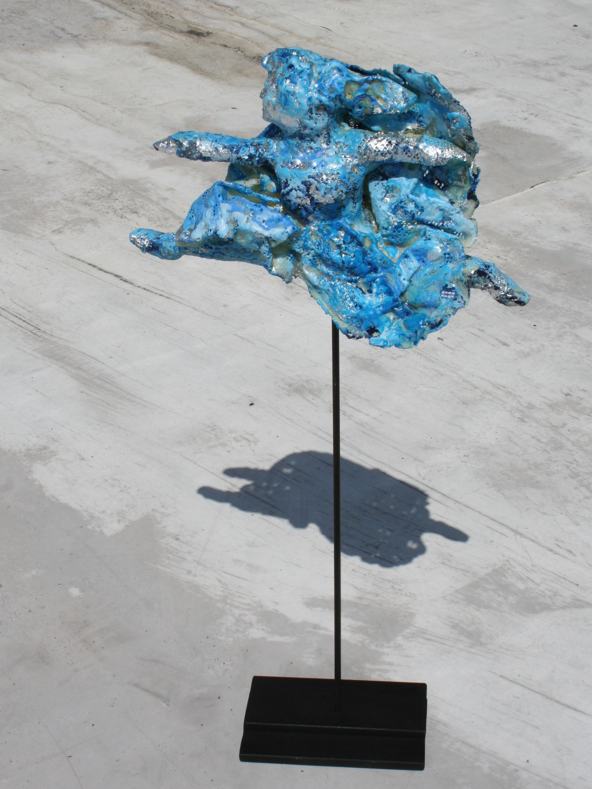 Sculpture for Sale in New York City Using Lace, Encaustic, and Iron by Rebecca Darlington