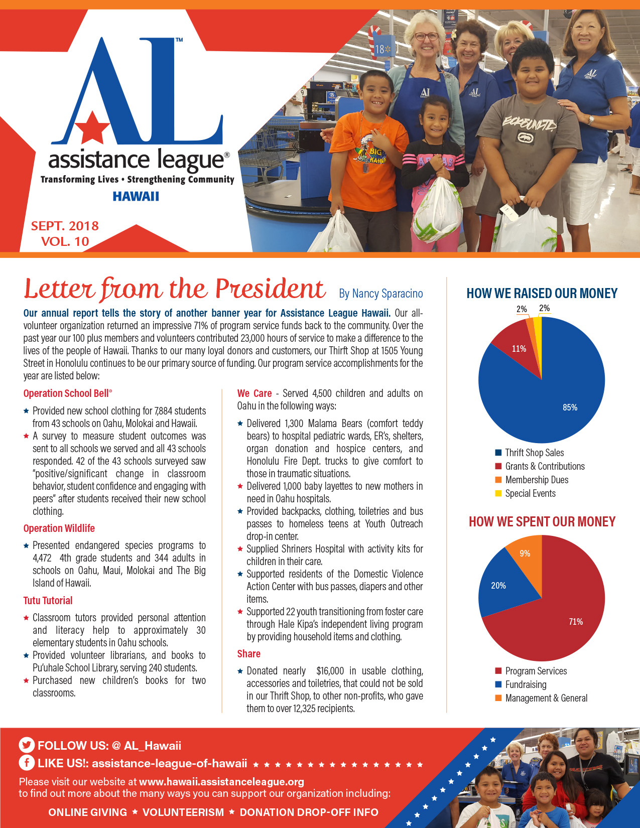 Assistance League Hawaii newsletter