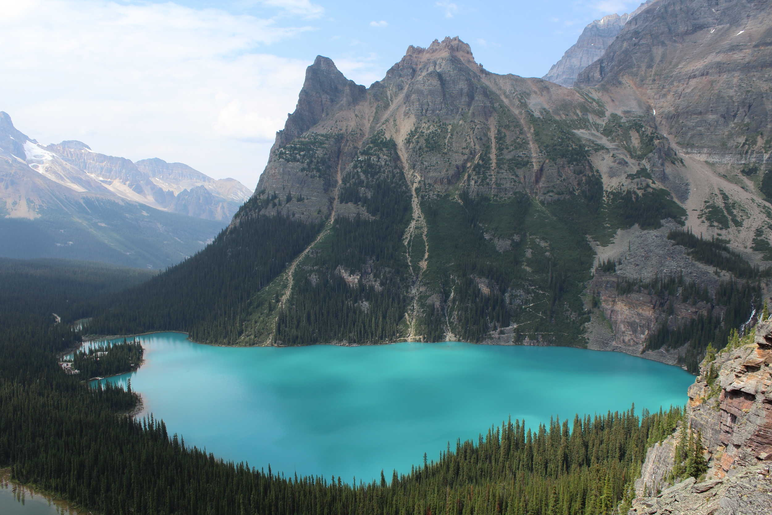 Obapin Prospect lookout over Lake O'Hara