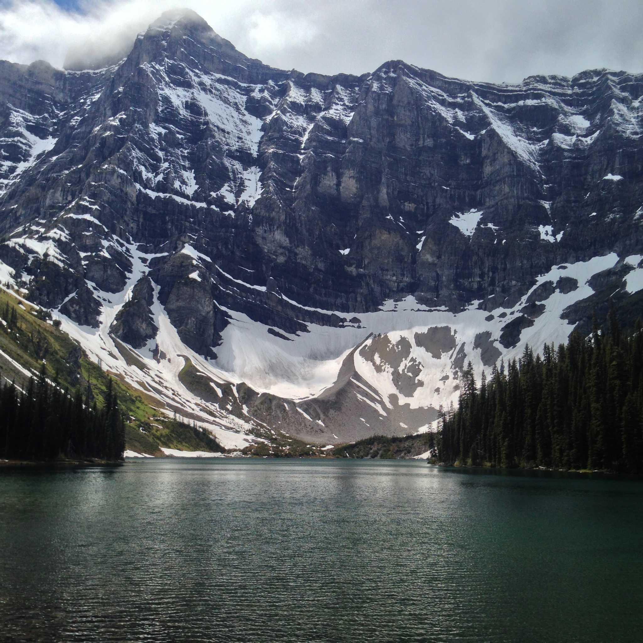 Mount Sarrail looms over Rawson Lake