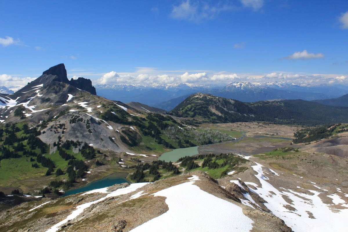 View of the Black Tusk from Panorama Ridge