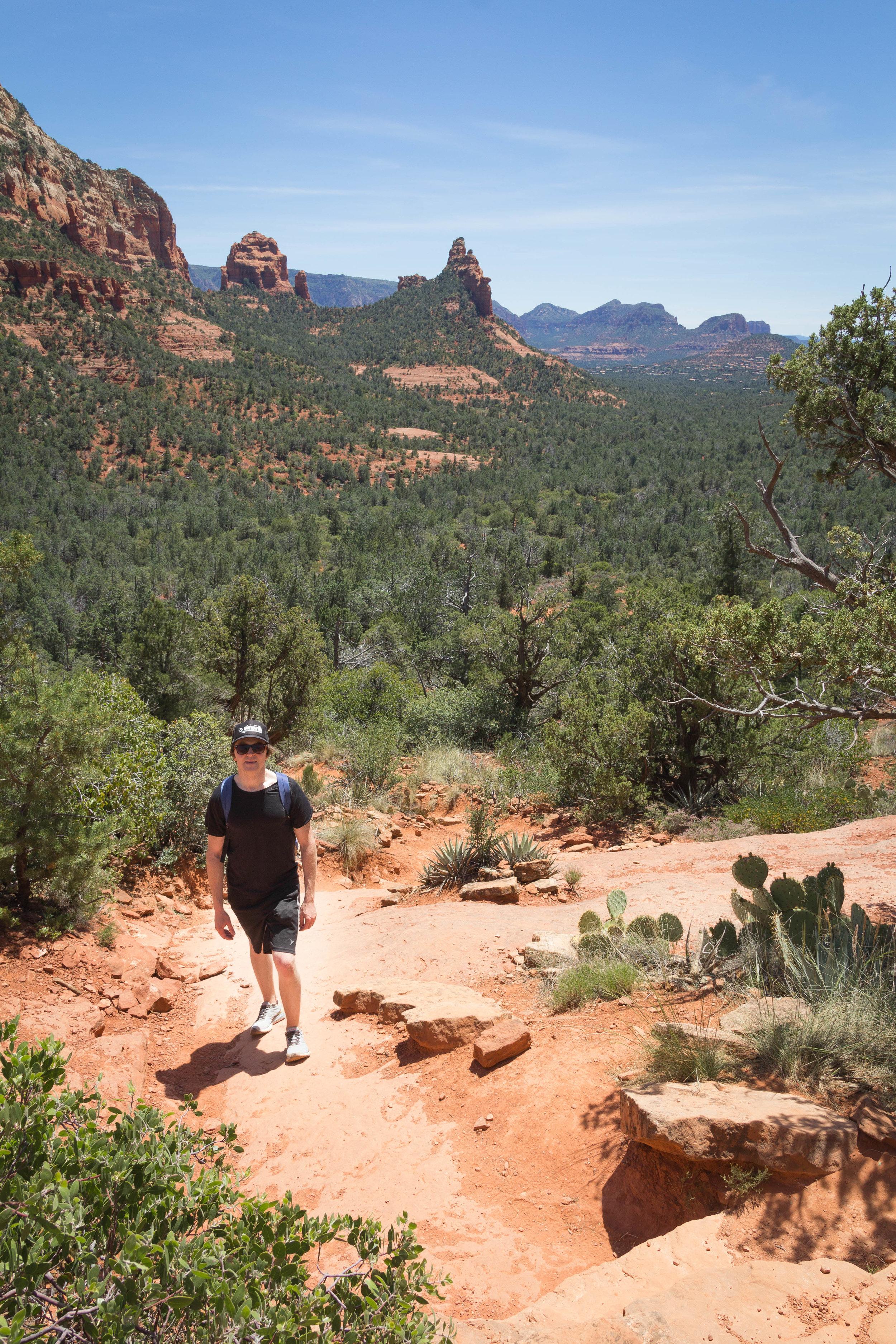 Climbing up Brins Mesa