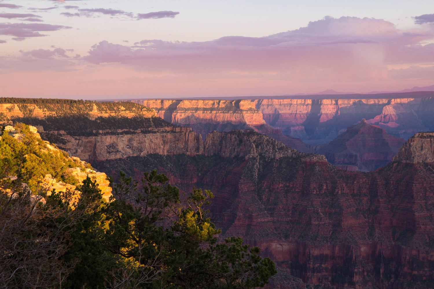 Bright Angel Point at Sunrise, North Rim
