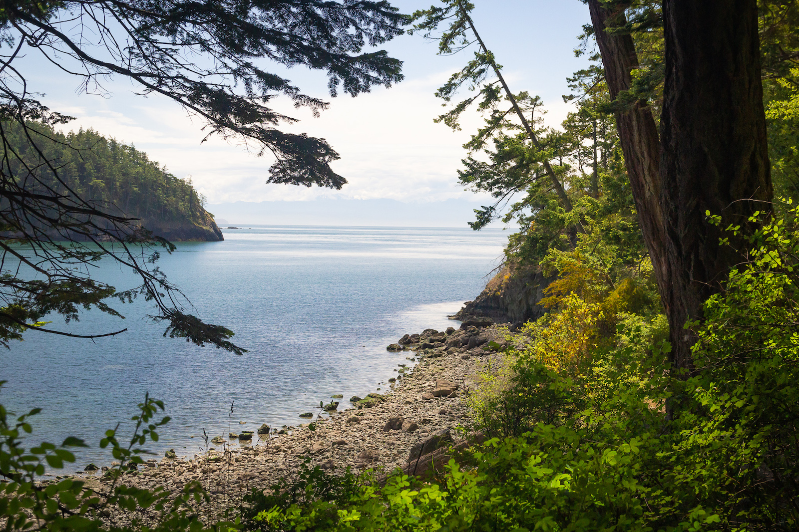 Enjoy views like these while staying at the Bowman Bay Campground.