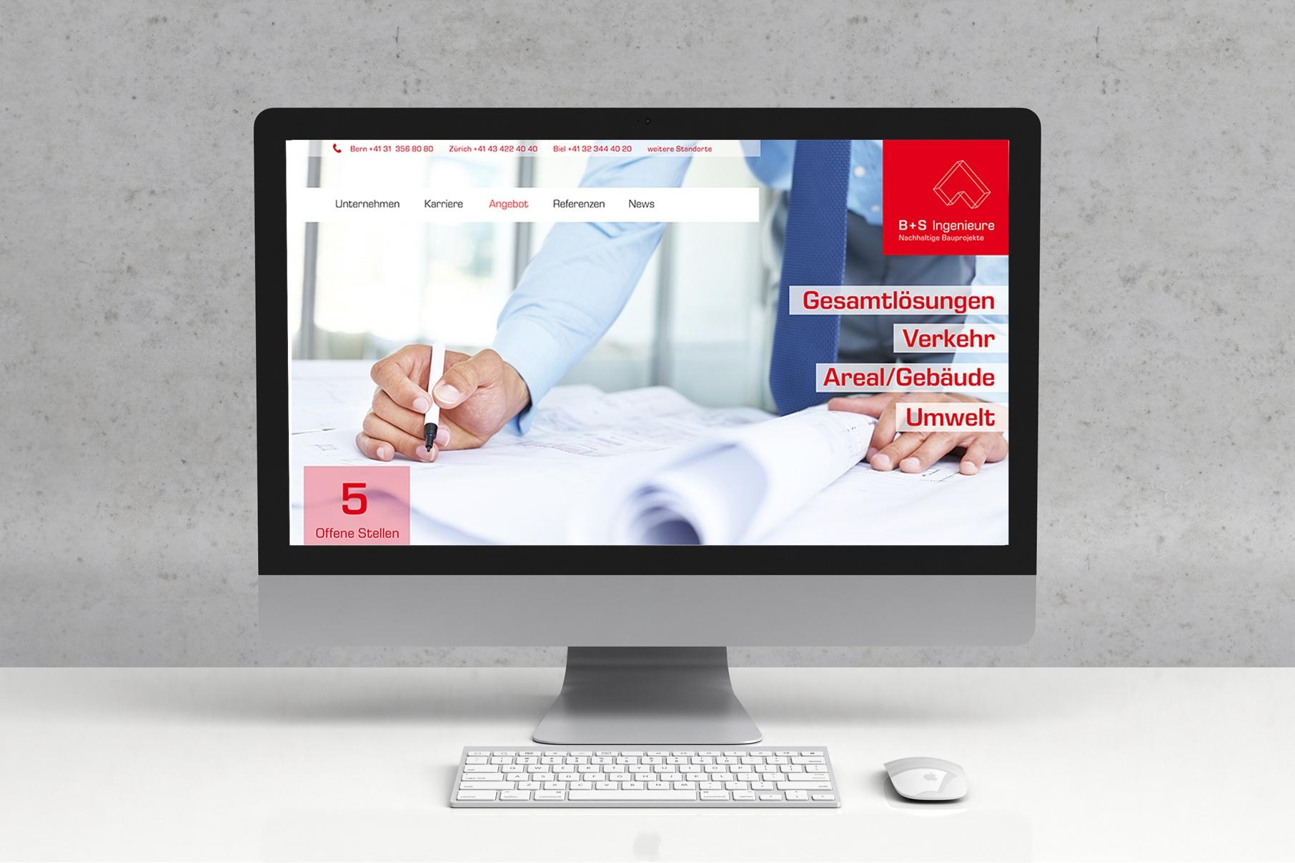 B+S AG - Webdesign