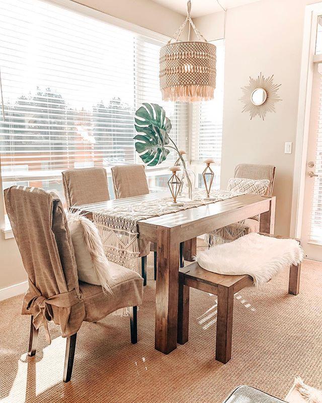 Good morning sunshine 🌞 #home #homedecor #boho #bohostyle #bohodecor #apartment #design #diningroom #diningroomdecor #maryhadalittlestylehome #photography #lifestyle #blog #spring
