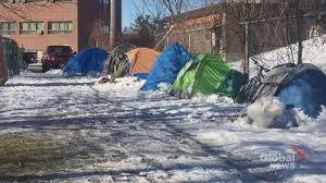 Tents near the Victoria Health Centre. Photo Credit: Global News