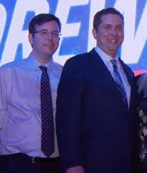 Andrew Scheer and senior staffer, former The Rebel Corporate Director Hamish Marshall. Photo credit: National Newswatch