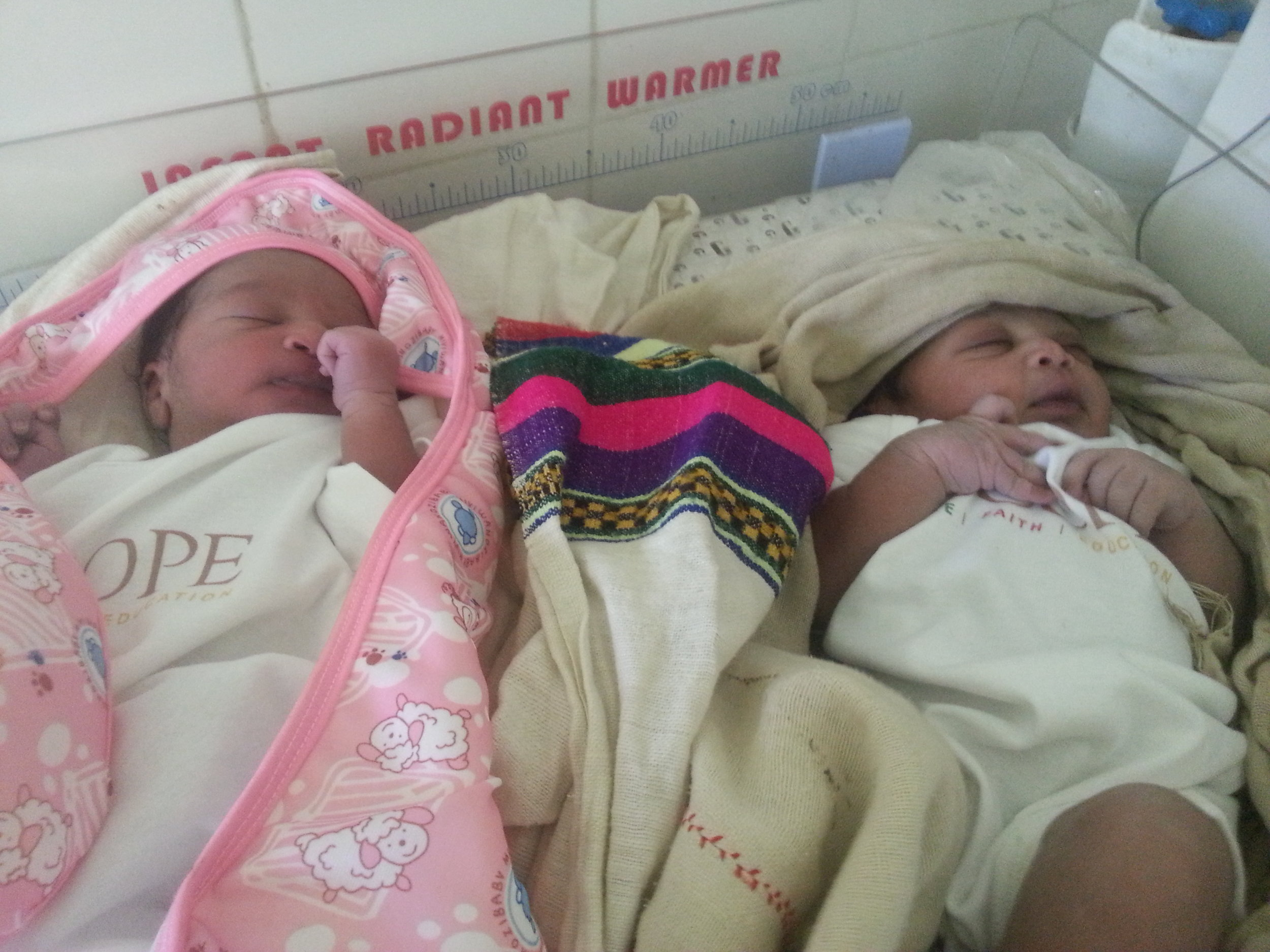 Healthy babies delivered at the Aymba Clinic where a SCOPE pilot for the FLAME project was launched.
