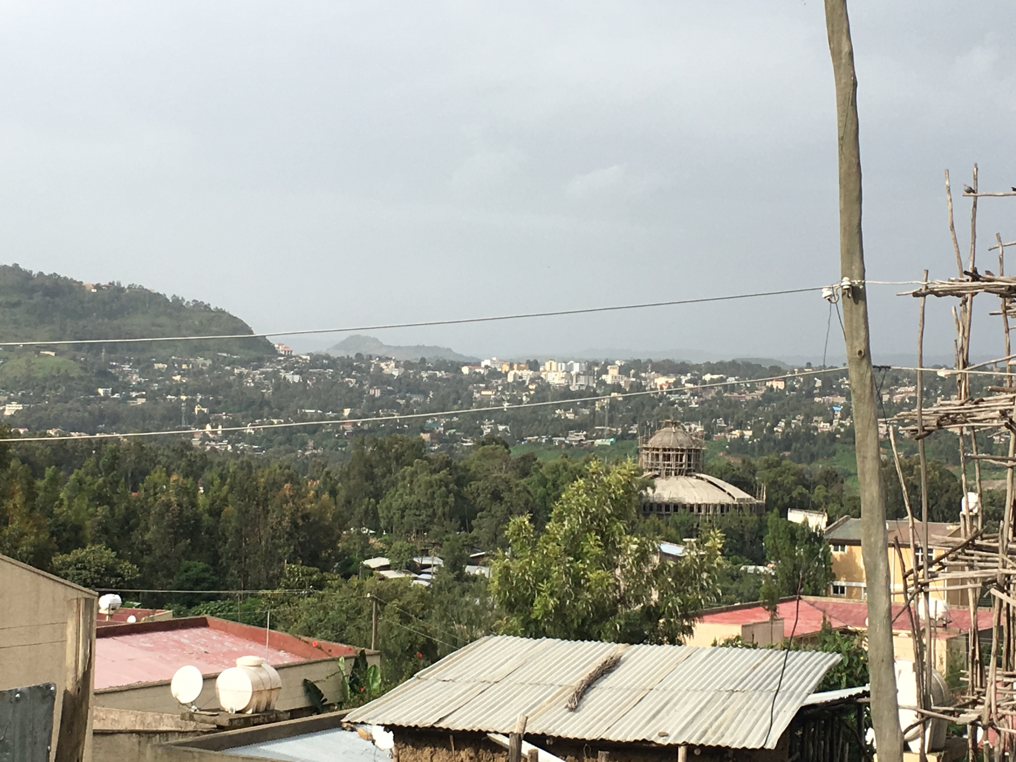 Gondar is hilly- and particularly green this time of year