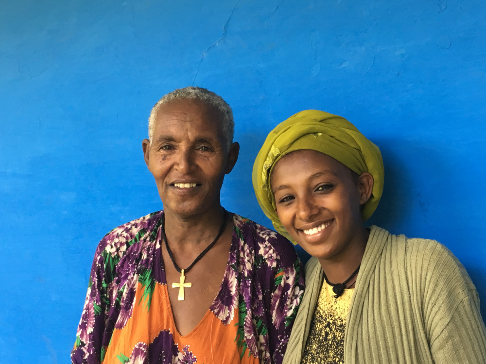 Tatugirman's mother came along to support her during her prenatal care visit