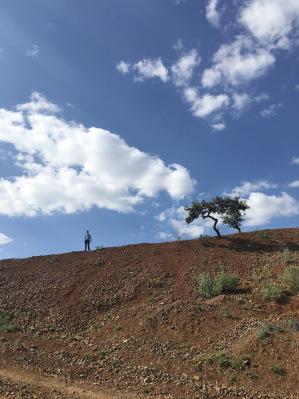 SCOPE/Rotary Fellow Simegnew on the hike to Belessa