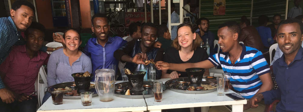 SCOPE Fellows and Data Collectors share a meal of thanks