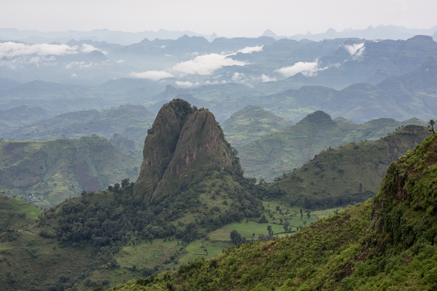 The Simien Mountains just north of Debark