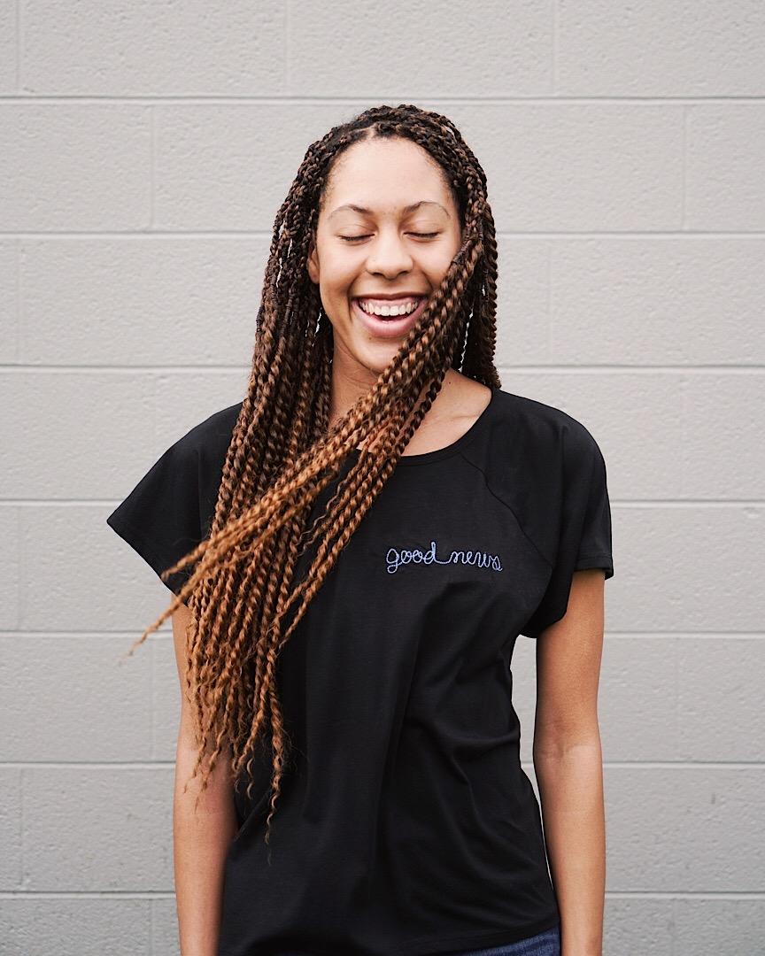 """""""Good News"""" Women's T-Shirt   $36"""