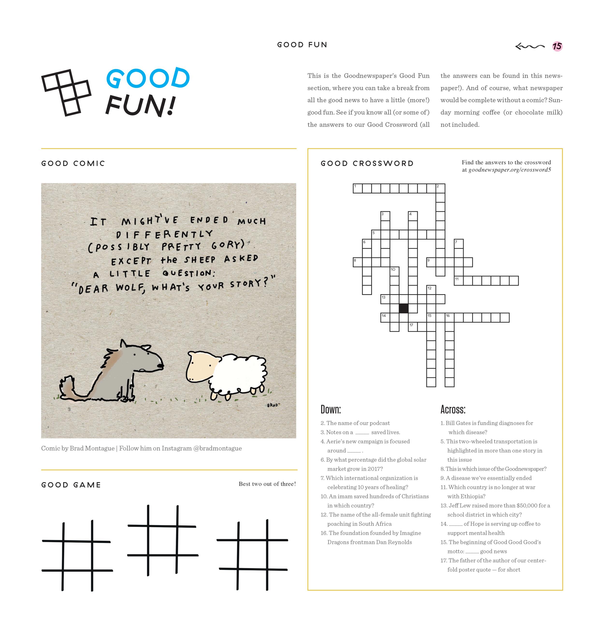 Goodnewspaper Crossword