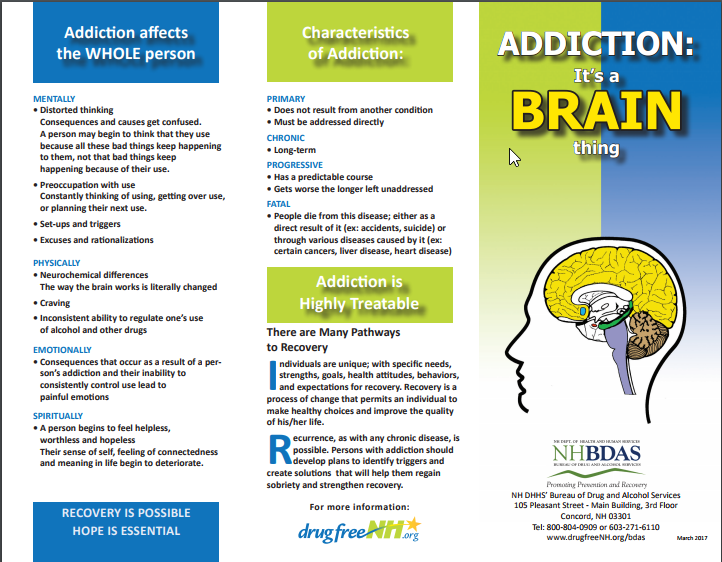 ADDICTION IS A BRAIN THING