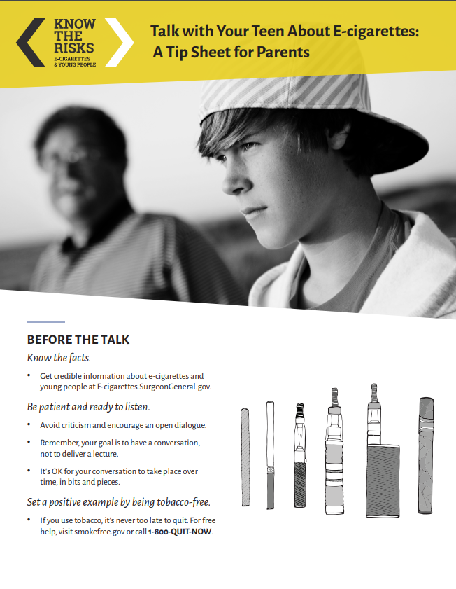 Talk with Your Teen About E-cigarettes