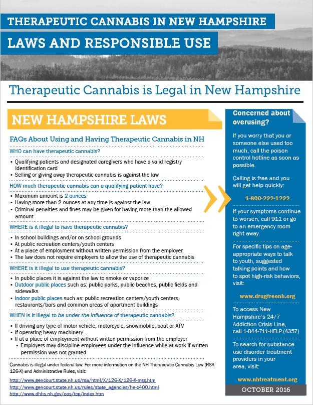 NH CANNABIS LAWS AND RESPONSIBLE USE