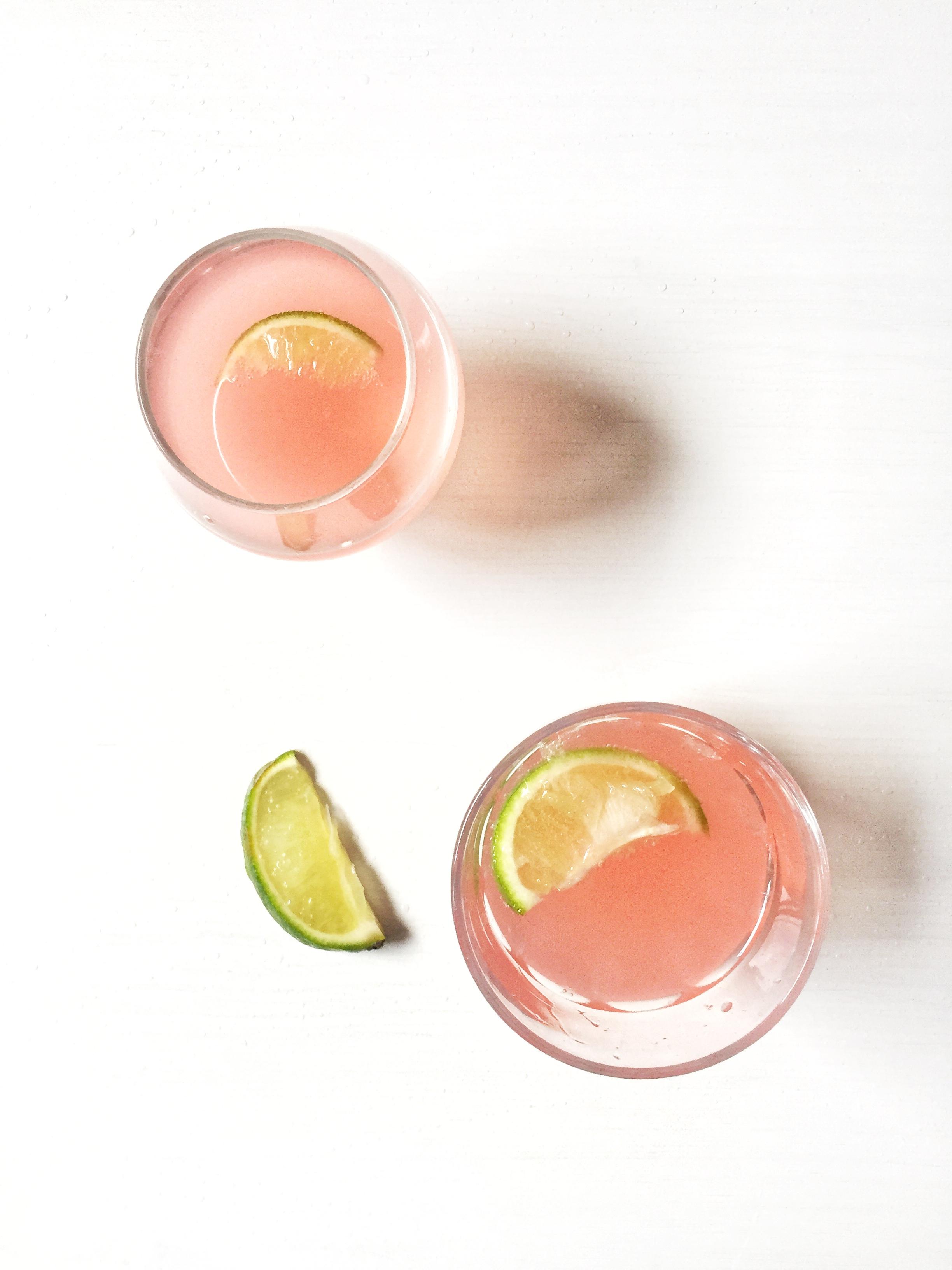 rhubarb gin & elderflower cocktail ~