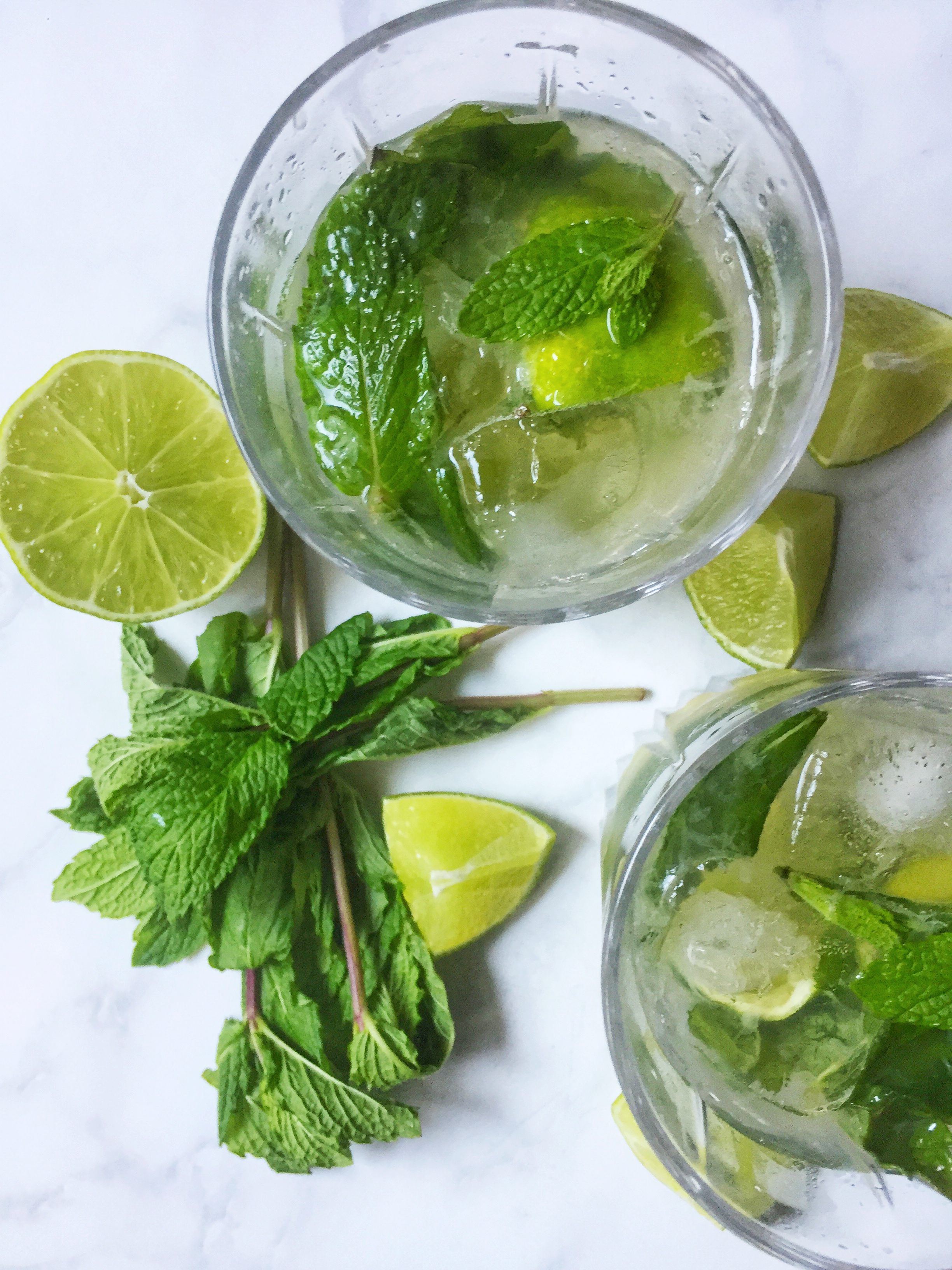 a dangerously good mojito with fresh mint leaves, limes, and white rum ~