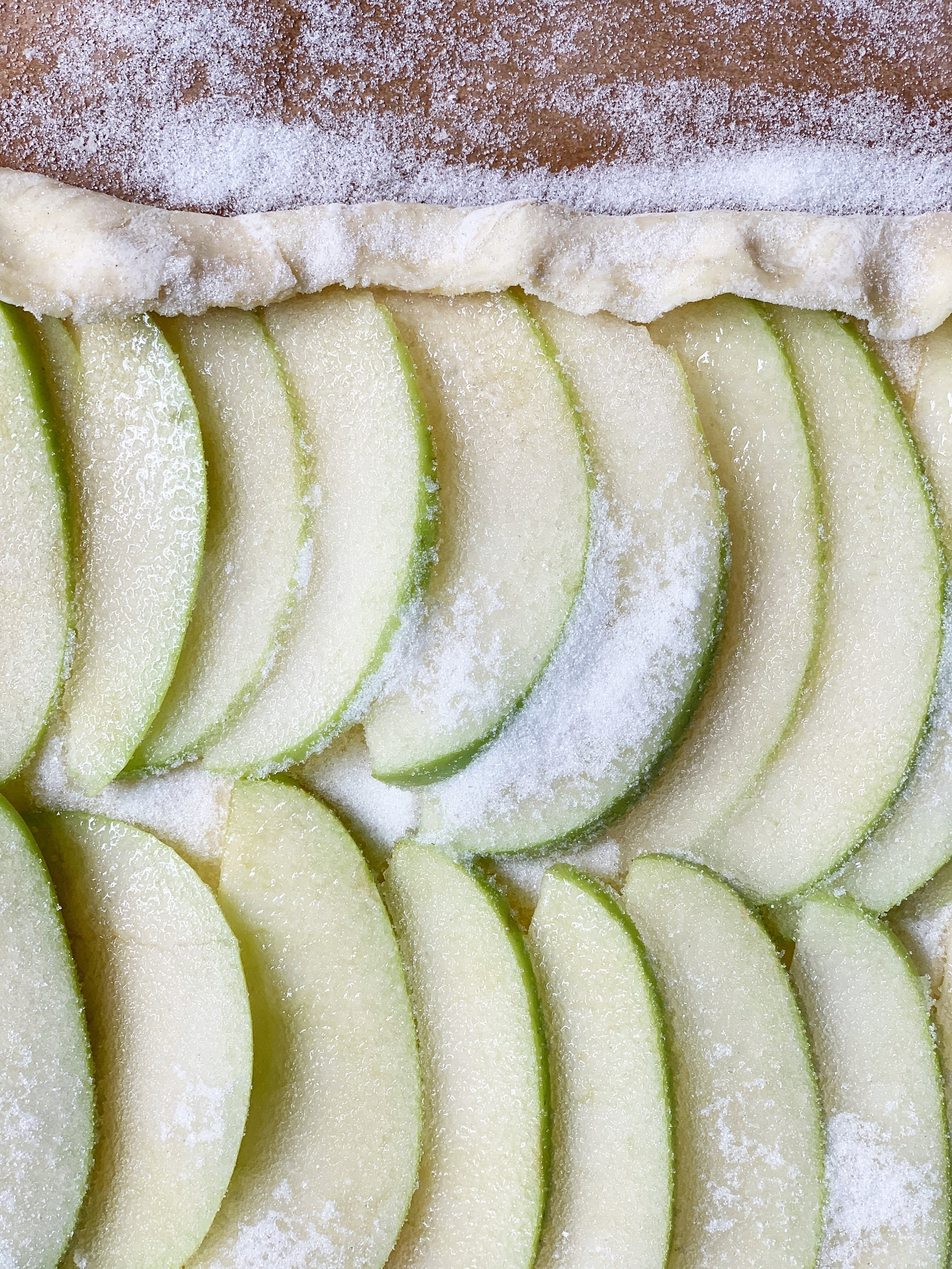 granny smith apples are best for this simple tart ~