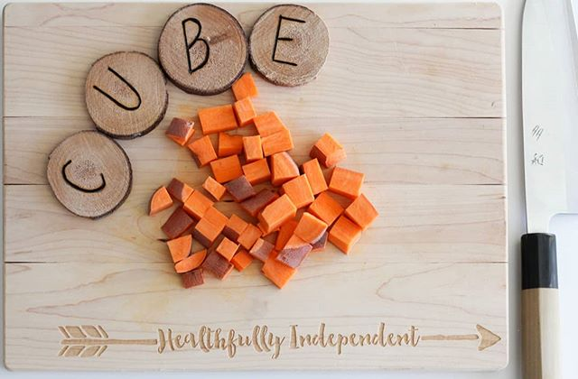 C is for cube! . In our cooking classes and our up-coming e-cookbook, we provide tips, tools, and guidance to build and support confidence in the kitchen. . Everyone deserves to be given the space to learn and grow. . . . #healthfullyindependent #afreshstart #lifeskills #kifeskills #cookingforallabilities #neurodiversity #autismwellness #nutrition
