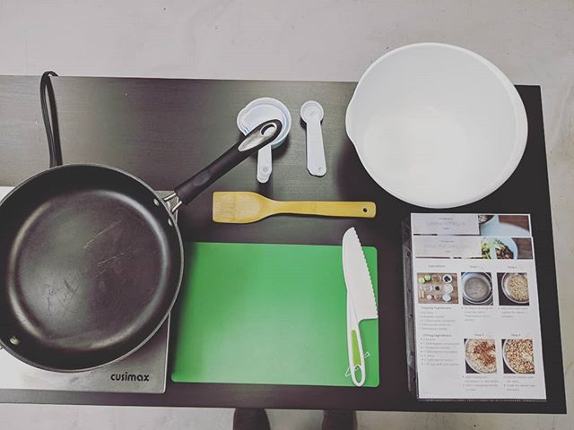 We're ready! Individualized cooking stations, adaptive recipes, and @curiouschef utensils (our fave!) 👌👌👌 Preparing cashew hot cocoa and stovetop apple crisp on this cold Saturday am 🤤😋 #healthyfullyindependent . . . .  #cooking #adaptivecooking #cookingskills #ot #aba #recreationtherapy #therapeuticrecreation #kidscooking #kidswithautism  #kidscookingclass #autismrocks #lifeskills #glutenfree #dairyfree #glutenfreerecipes #colorado #adaptivecookingclasses #autism #ability #independence #homeschool #homeschooling #lifeskills #cookingclasses #kidscookingclasses