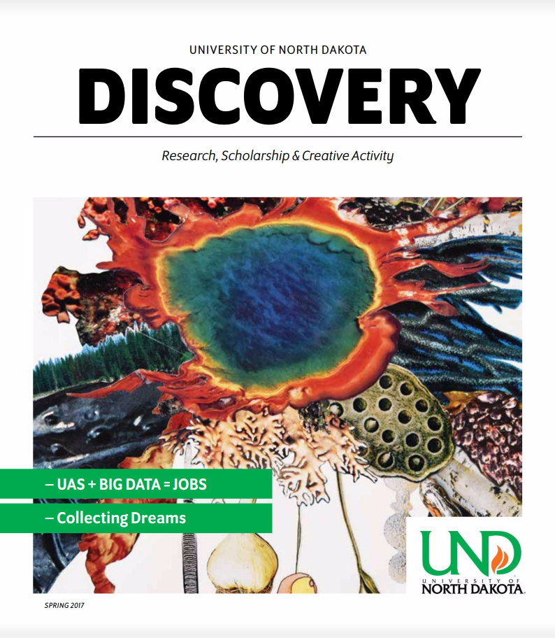 Spring 2017 issue of UND Discovery Magazine. Edited and produced by STEMflash Media