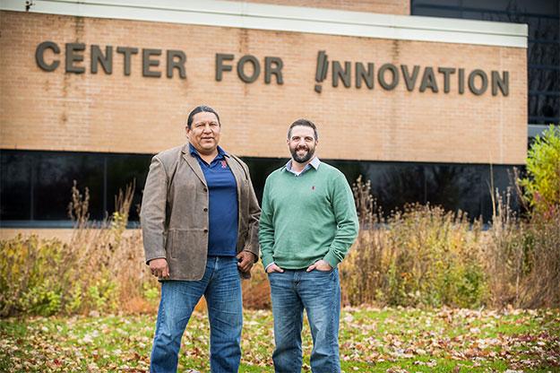 Michael Brien (left) with Tyler Okerlund, North Dakota VEP Program Director