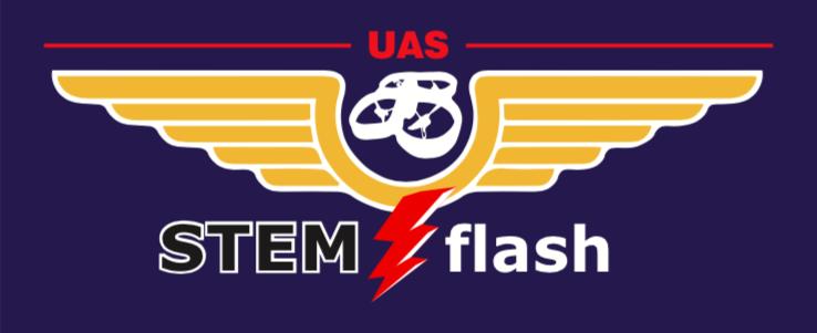 STEMflash UAS logo_blue background.png