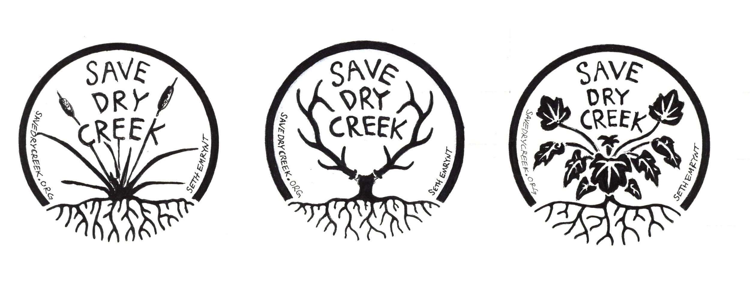 Stickers and buttons designed by  Seth Emrynt. Check out more of his art  here.