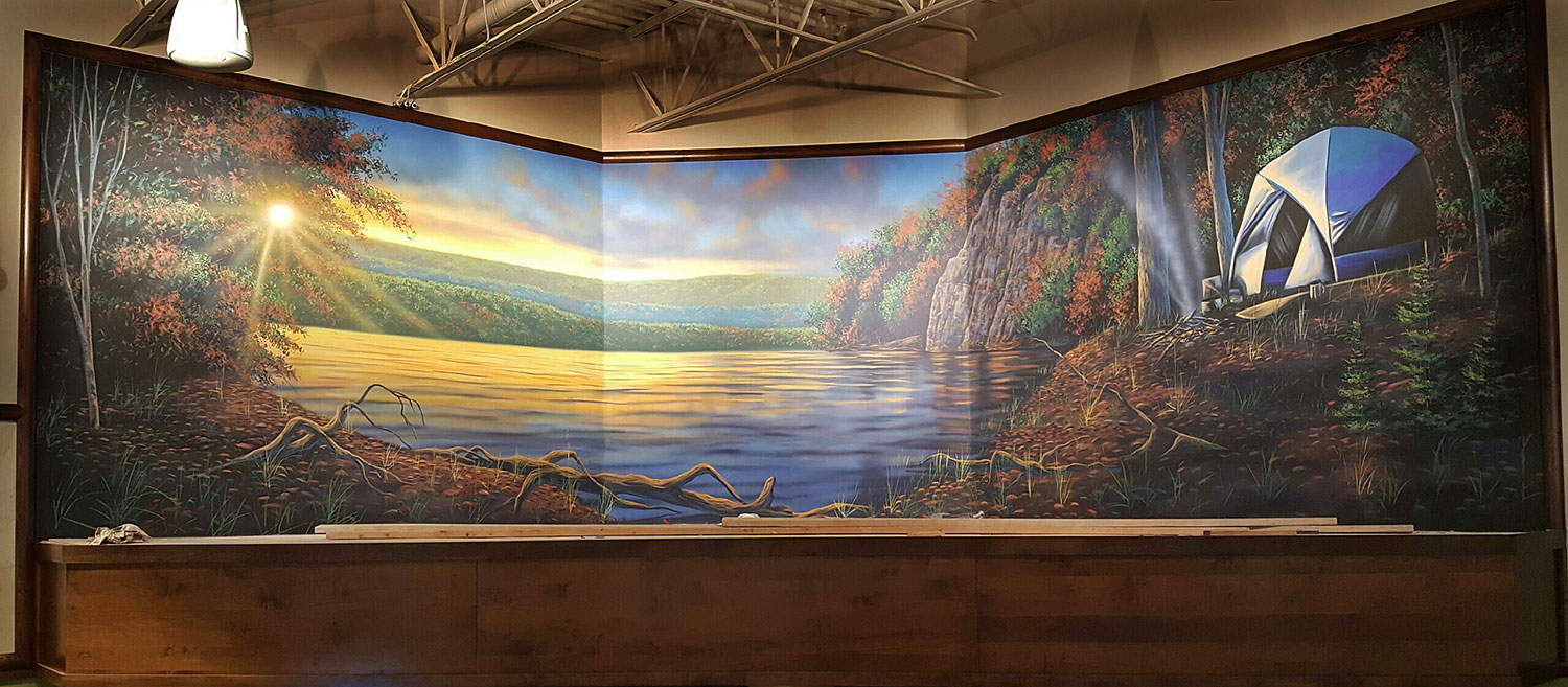 Mural on canvas for Corporate Sporting Goods Chain