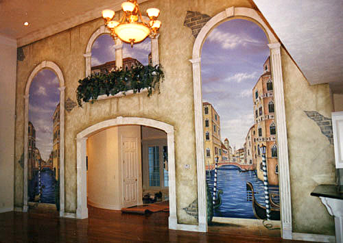 Mural on location for private residence