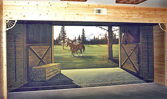 Mural on location in Private Residence Tack Room