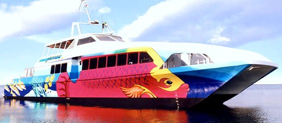 Mural on ship for Bahama Fast Ferry