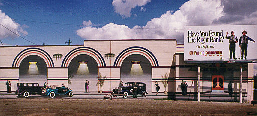 Exterior Mural on location for Art Deco Theater