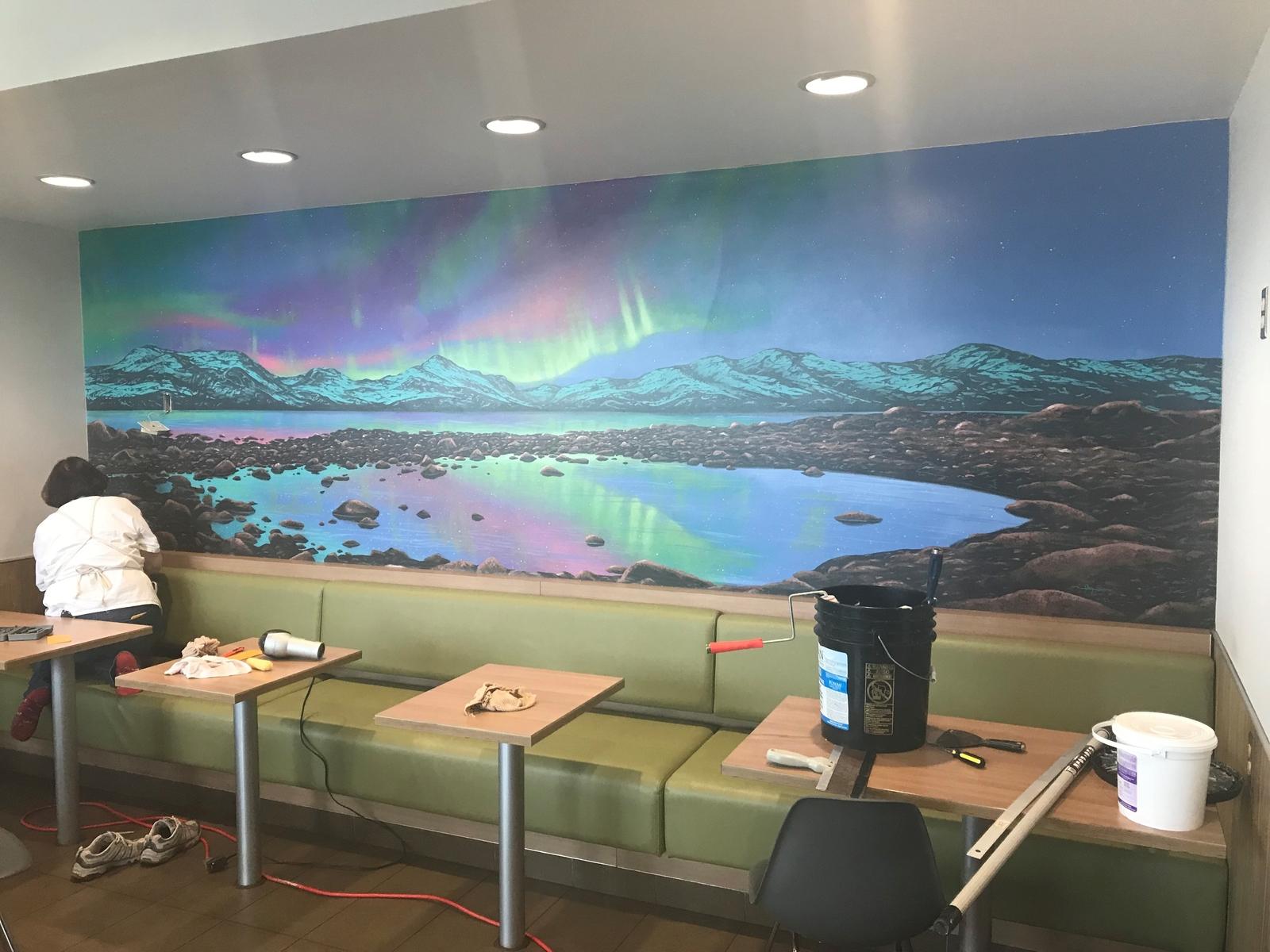 Mural on Canvas for restaurant in Alaska
