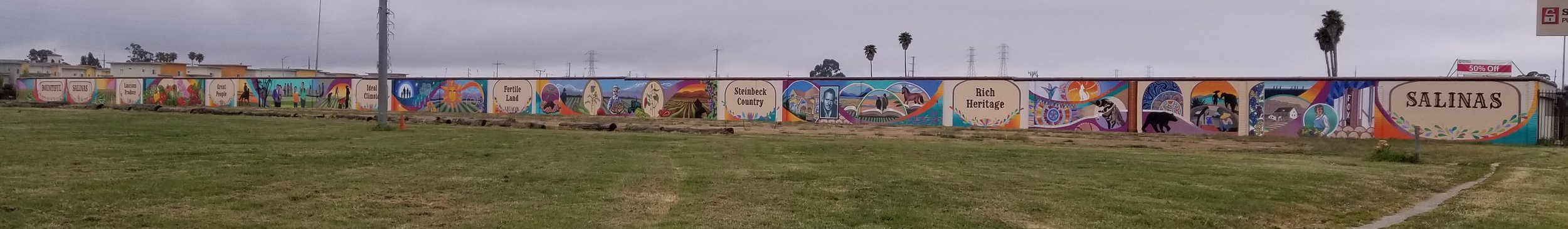 600' Long Mural for the City of Salinas at Security Public Storage