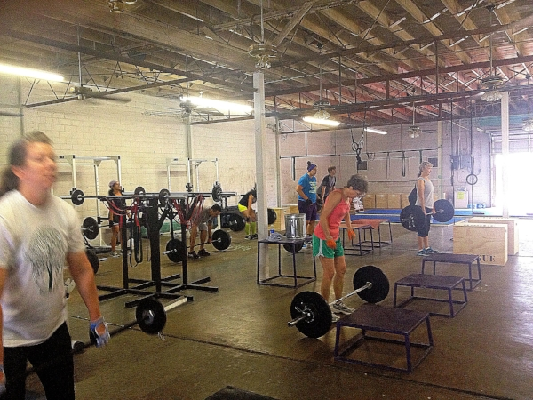8:30 am class.  Shotgun CrossFit circa 2012.
