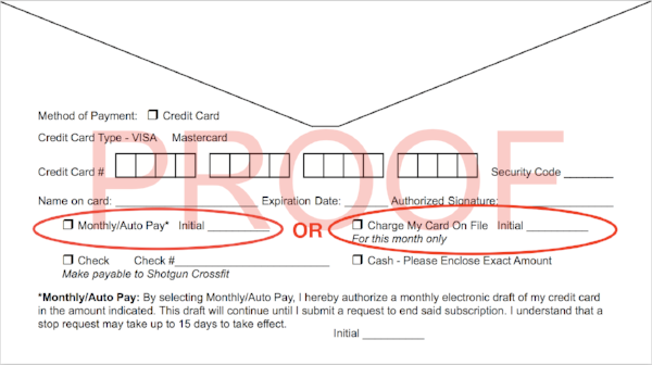 Shotgun Payment Envelope
