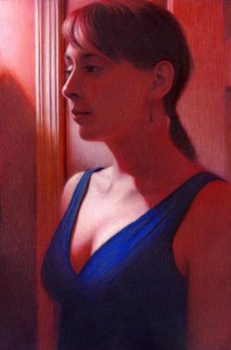 """15""""H x11""""W colored pencil on Artspectrum Colourfix paper, 2011"""