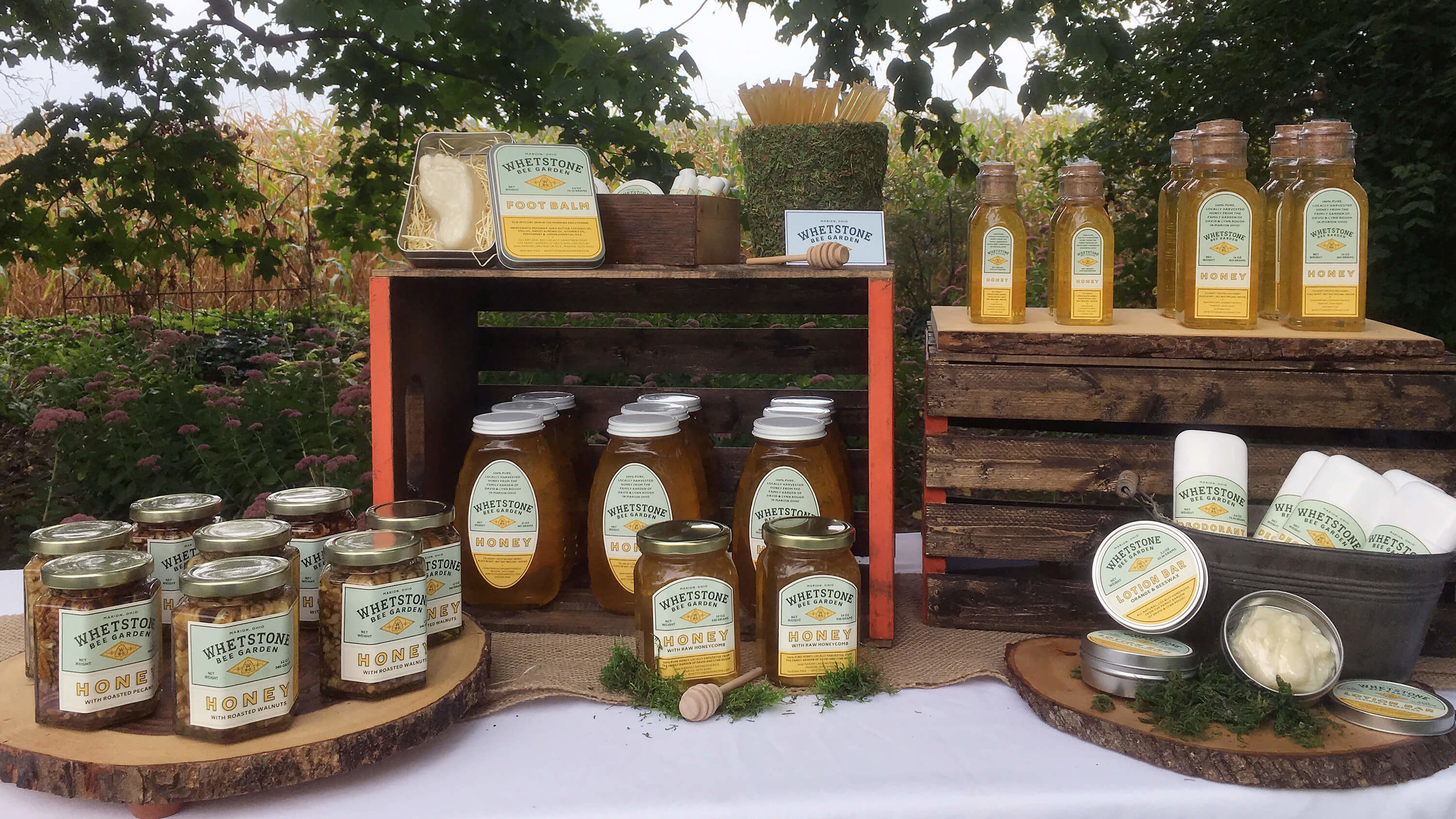 Our Products - With the help of our bees, we not only share an assortment of honey products, but handcrafted, all-natural lotion bars, deodorants and other cosmetic products.See our online shop