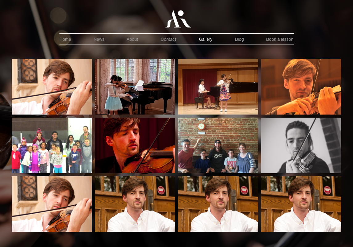 Gallery page: User can click on the thumbnails, view the bigger size of the image or video