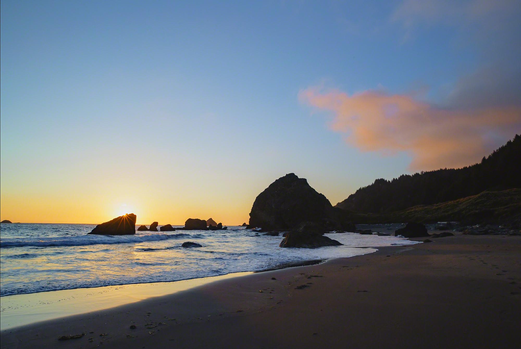 The beach at Cape Ferrelo