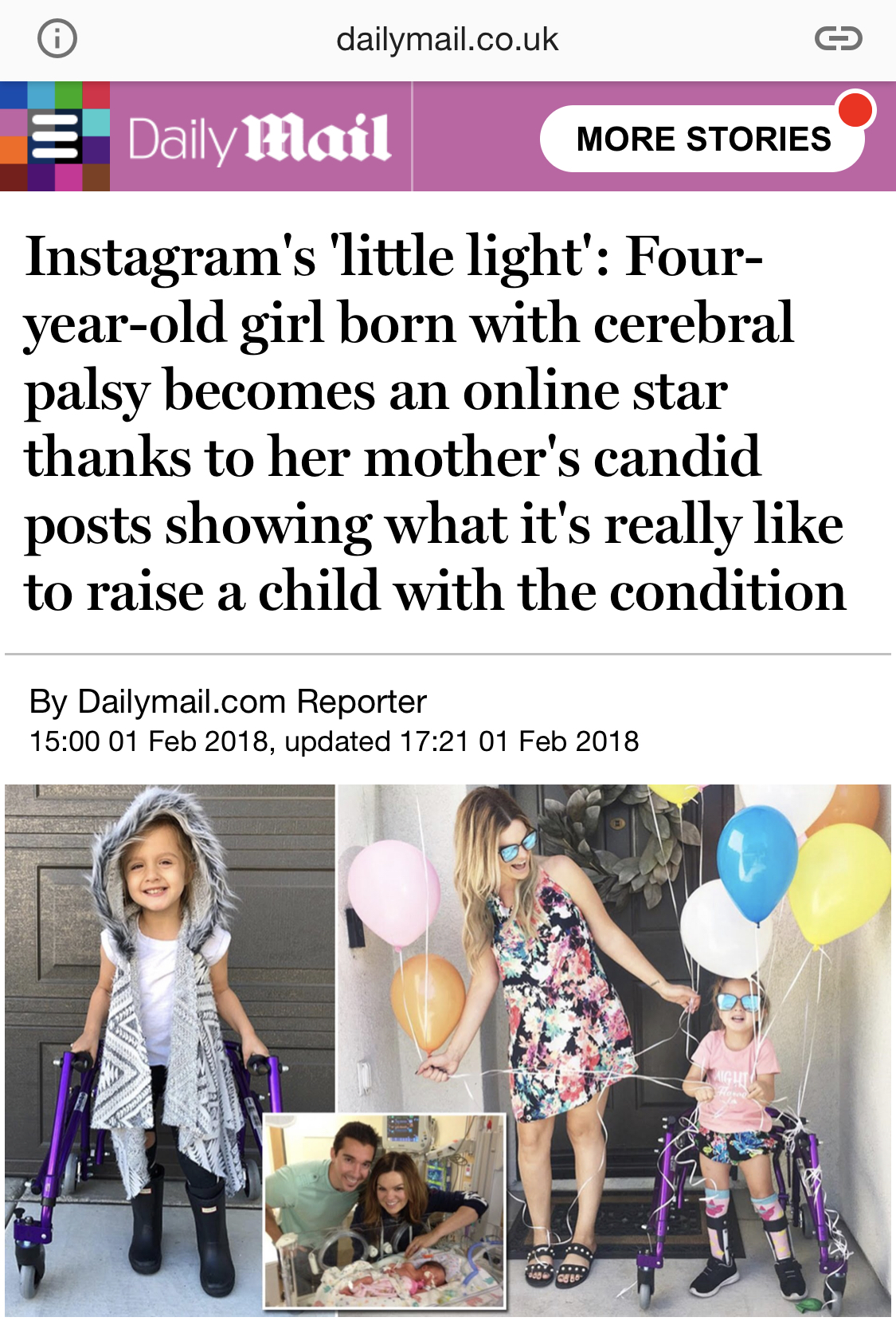 "Barcroft TV reached out to do a story on this little ""Instagram star"" and had no idea the story they stumbled on. - it's been a whirlwind!"