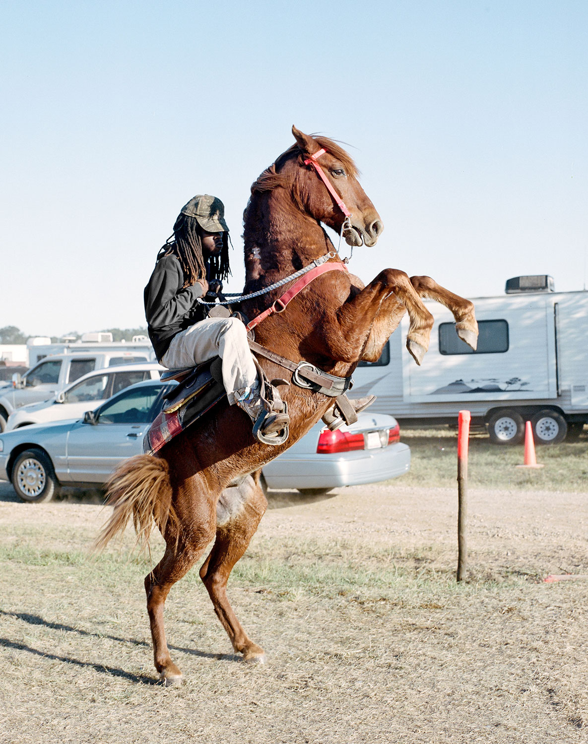 A horseman at a trail ride