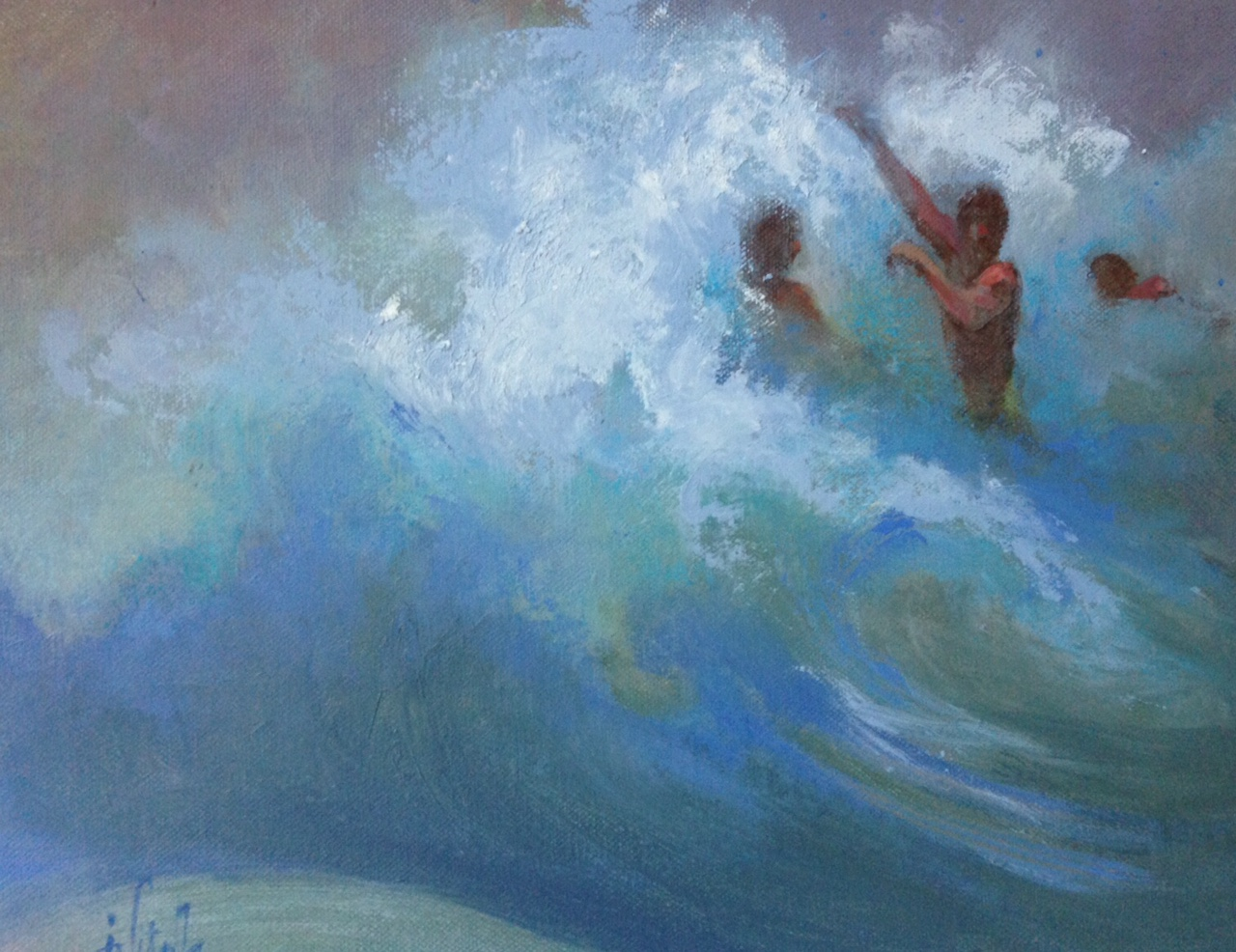 Rough Surf , oil on canvas,